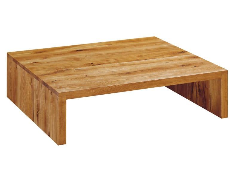 Rectangular wooden coffee table BASSO - e15