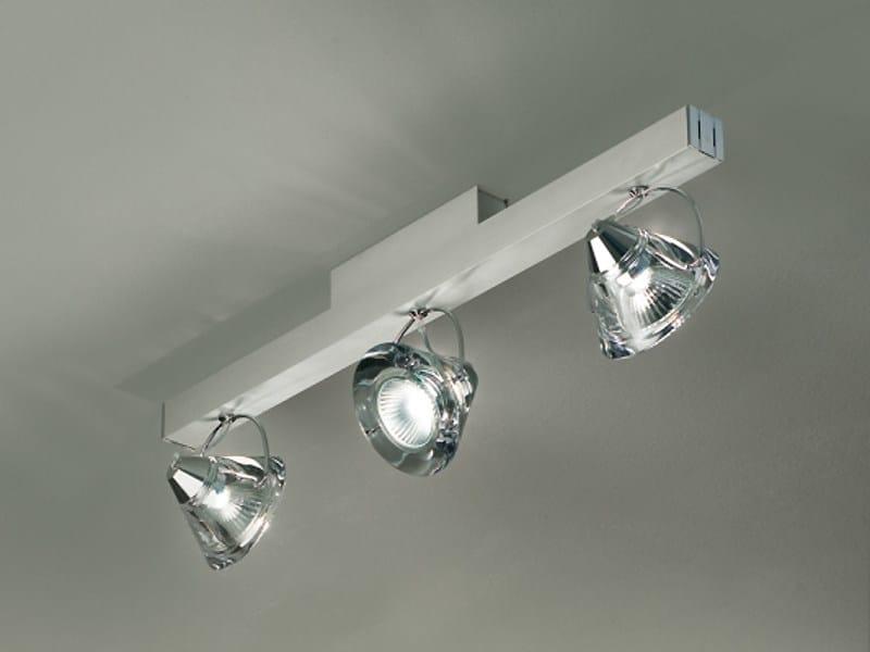 Multiple adjustable ceiling spotlight WEDGE 3 L | Multiple spotlight by Lucente