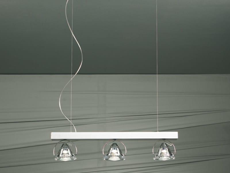Crystal pendant lamp WEDGE 3 L | Pendant lamp - LUCENTE - Gruppo Rostirolla