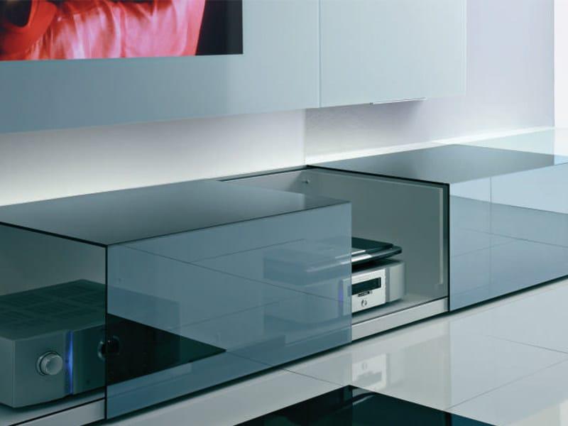 meuble tv en cristal ground case collection new concepts by acerbis international design. Black Bedroom Furniture Sets. Home Design Ideas