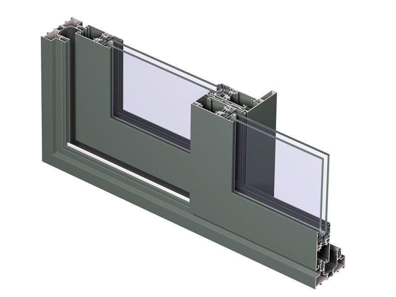 Aluminium double glazed window Concept Patio 96 - Reynaers Aluminium
