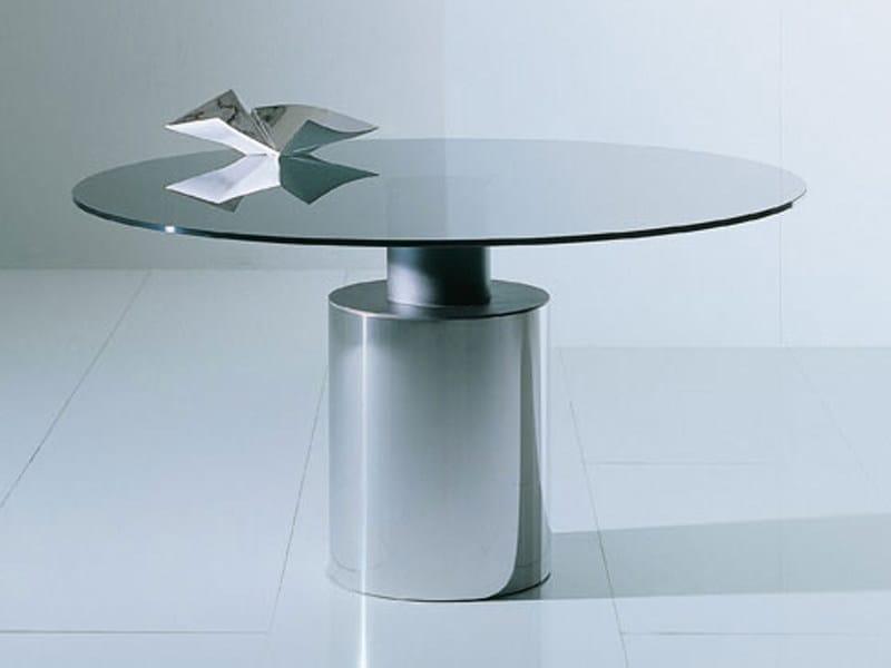 Tavolo rotondo in vetro CRESO - Acerbis International