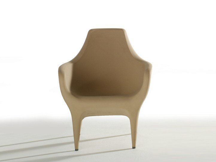 Polyethylene garden armchair with armrests SHOWTIME | Polyethylene garden armchair - BD Barcelona Design