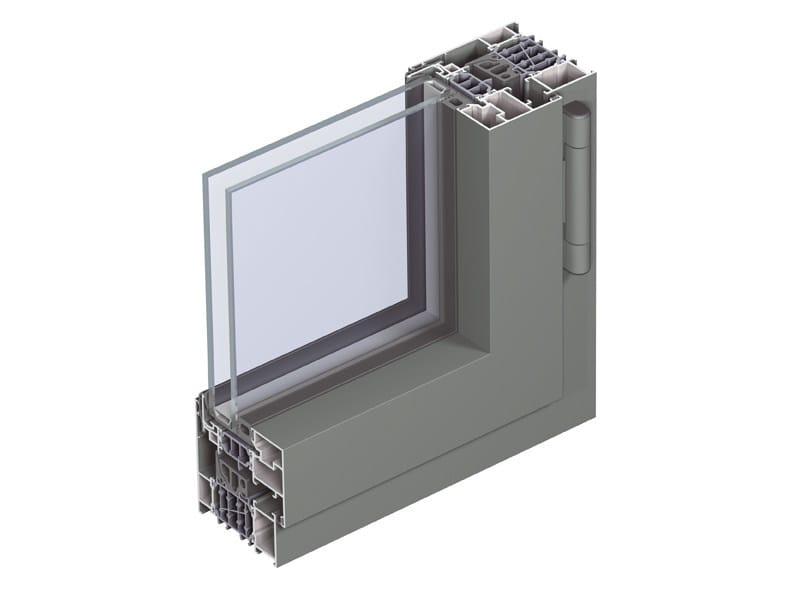 Porta finestra a taglio termico con doppio vetro in alluminio concept system 86 hi serie - Porta finestra doppio vetro ...