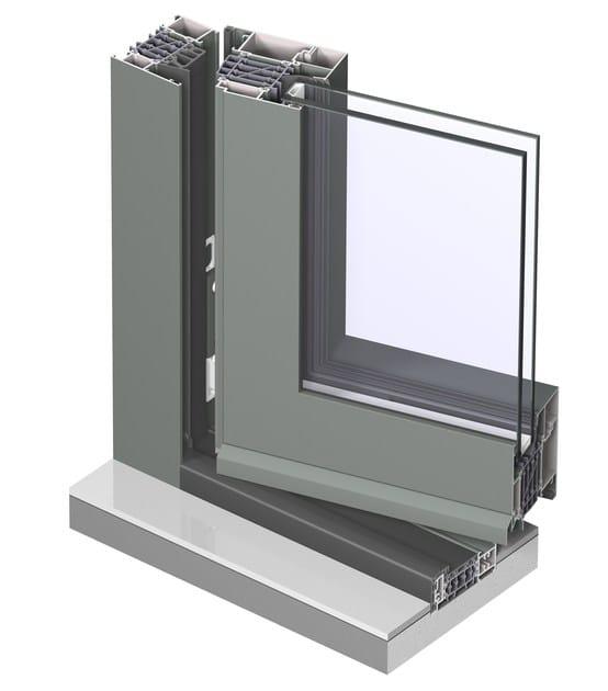 Porta finestra a taglio termico con doppio vetro in alluminio concept system 86 hi reynaers - Porta finestra doppio vetro ...