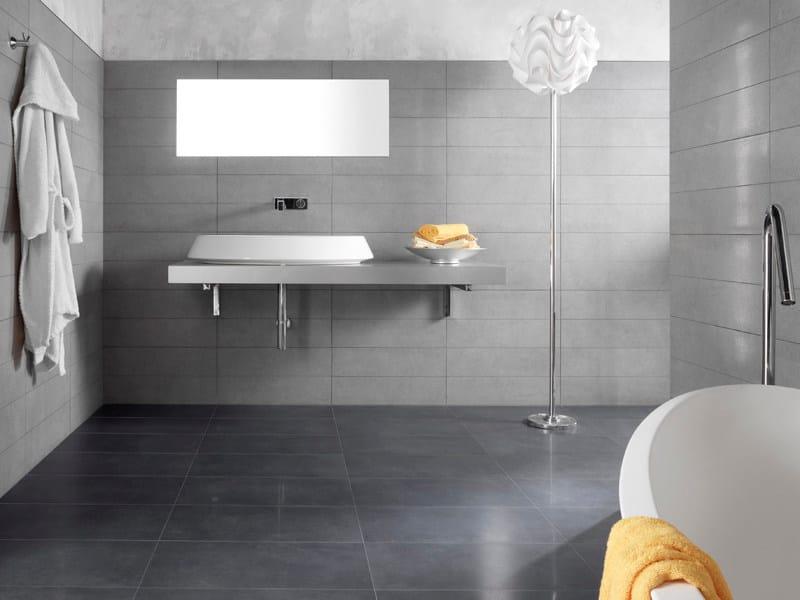 Pavimento rivestimento in gres porcellanato pietre - Piastrelle grigie bagno ...