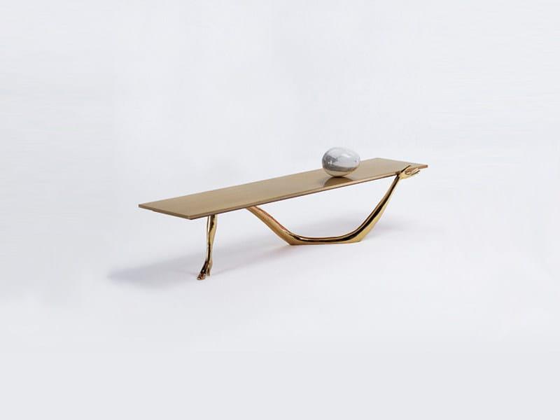 Low brass coffee table LEDA | Coffee table - BD Barcelona Design