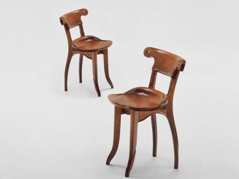 Solid wood chair BATTLÓ | Chair - BD Barcelona Design