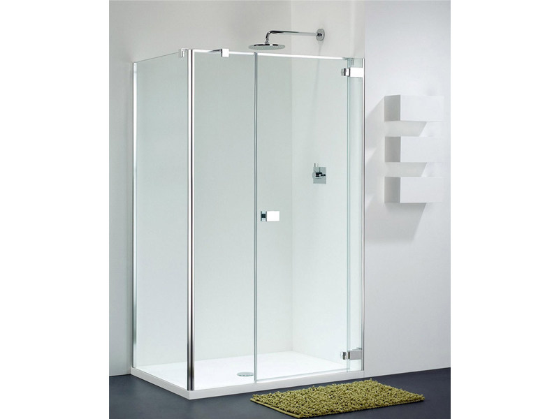 Corner glass shower cabin E-LITE EI-1 + EW-2 by Provex Industrie