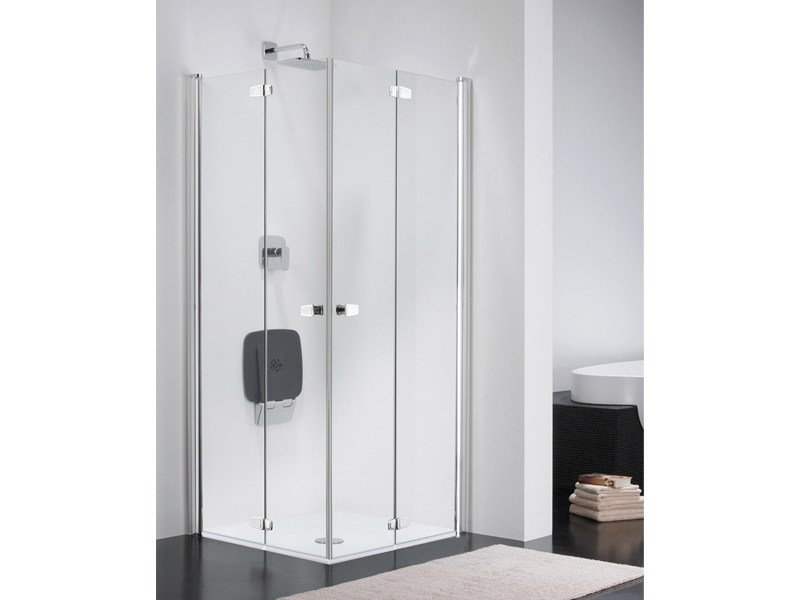 Corner glass shower cabin COMBI FREE CE by Provex Industrie