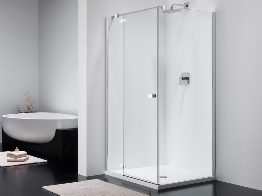 Corner glass shower cabin COMBI CT + CW by Provex Industrie