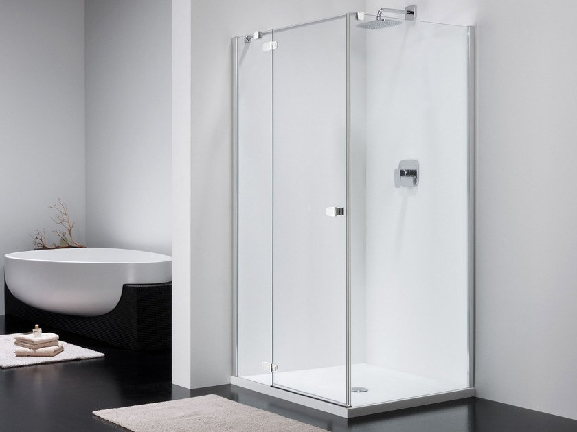 Corner glass shower cabin COMBI CT + CW - Provex Industrie