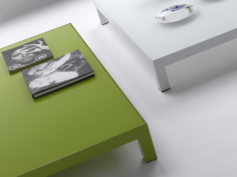 Low lacquered aluminium coffee table COLORS | Coffee table - MDF Italia