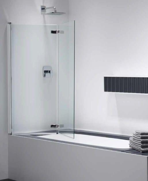Parete per vasca pieghevole combi free ck 2 provex industrie - Vasca da bagno in vetro ...