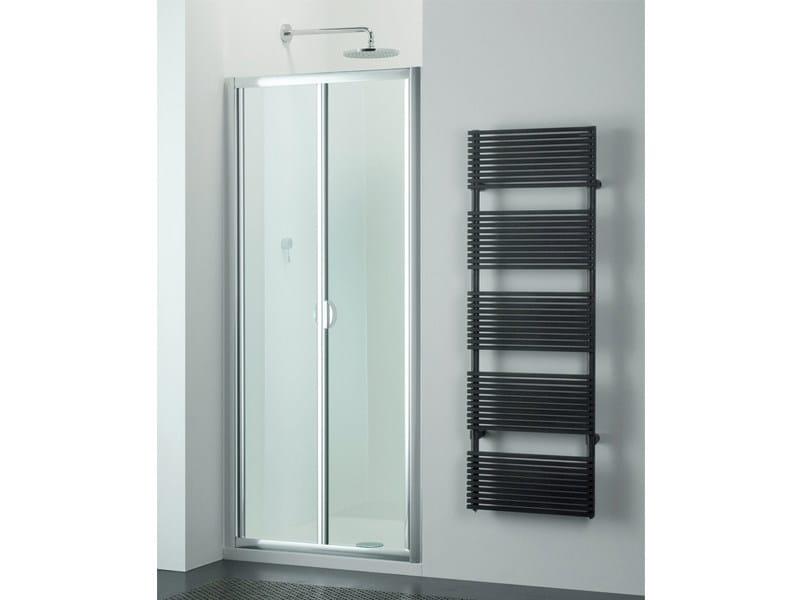 Box doccia in vetro con porta a soffietto arco sf provex - Porta a soffietto in vetro ...