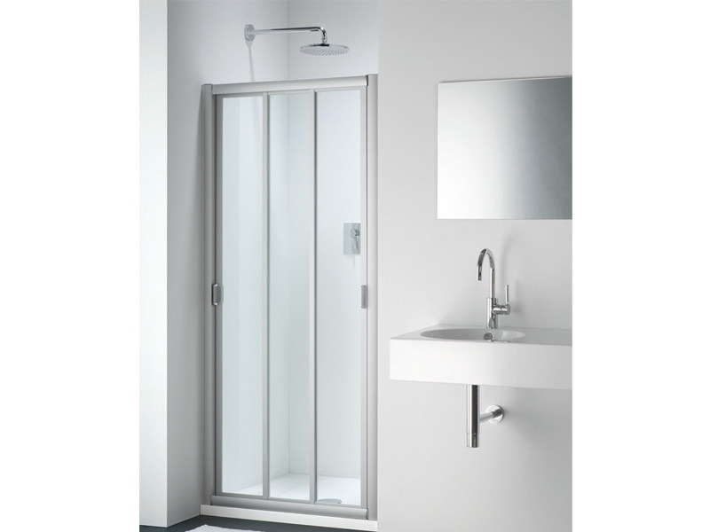 Glass shower cabin with sliding door CLASSIC FC - Provex Industrie