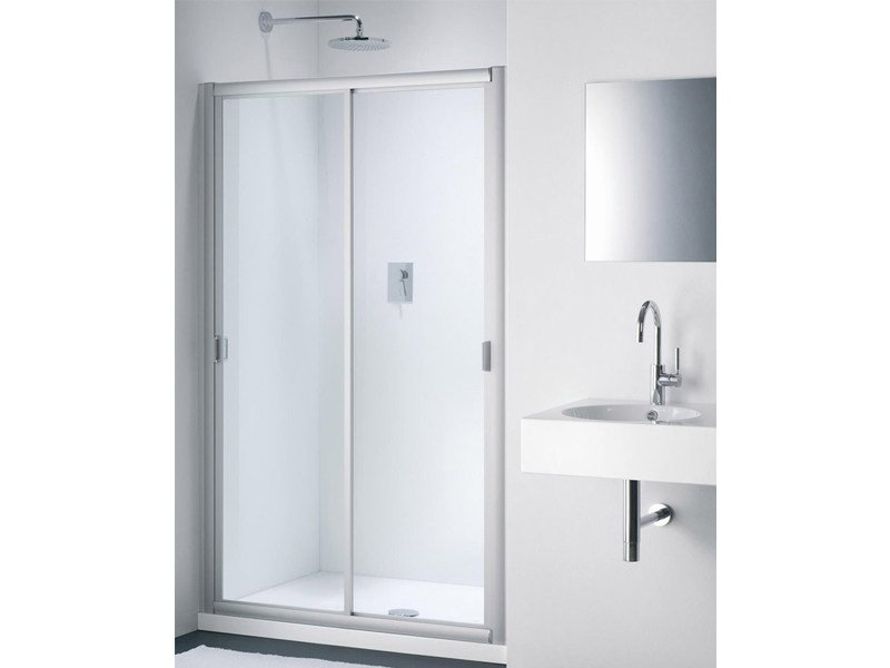 Glass shower cabin with sliding door CLASSIC NC - Provex Industrie