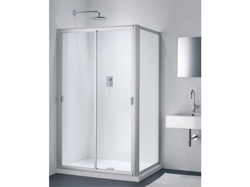 Glass shower cabin with sliding door CLASSIC NC + WC - Provex Industrie