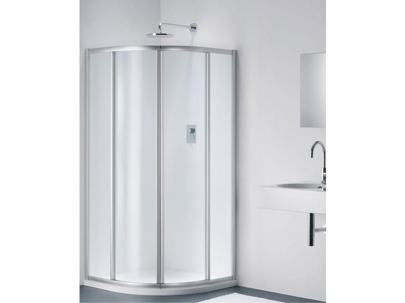 Semicircular glass shower cabin CLASSIC RC - Provex Industrie