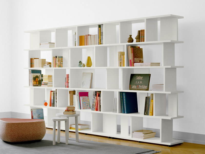 Open sectional solid wood bookcase ARIE by e15