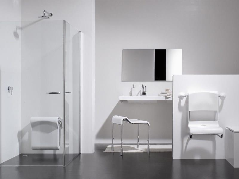 Sedile doccia ribaltabile 400 kp provex industrie - Bagno disabili cad ...