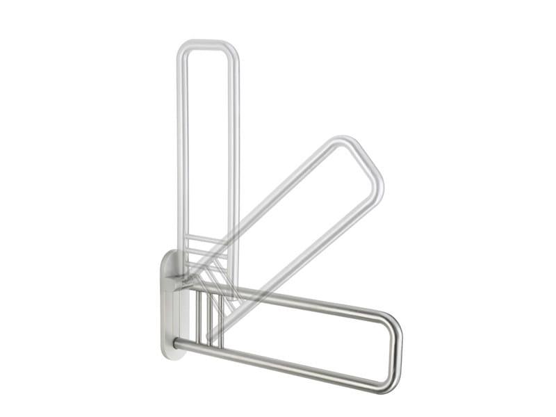 Folding brushed steel grab bar 300 STEEL SG 03 - 04 - Provex Industrie