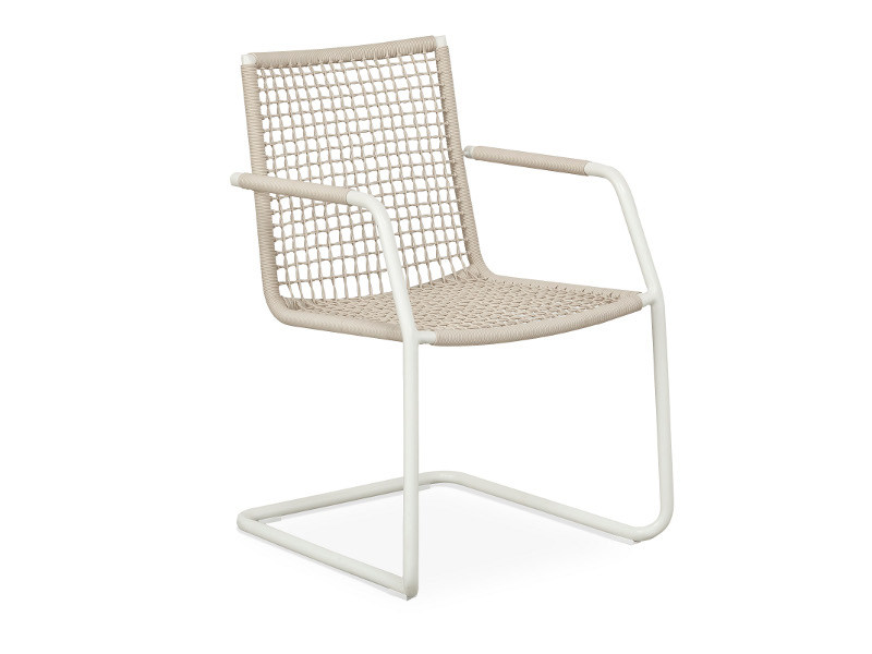 Cantilever garden chair with armrests LODGE | Cantilever chair - FISCHER MÖBEL