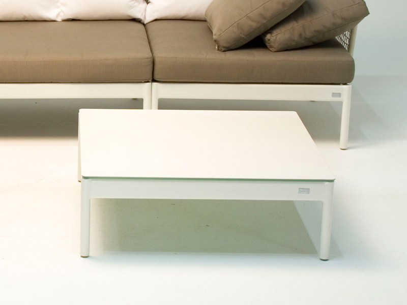 Low square garden side table LODGE | Garden side table - FISCHER MÖBEL