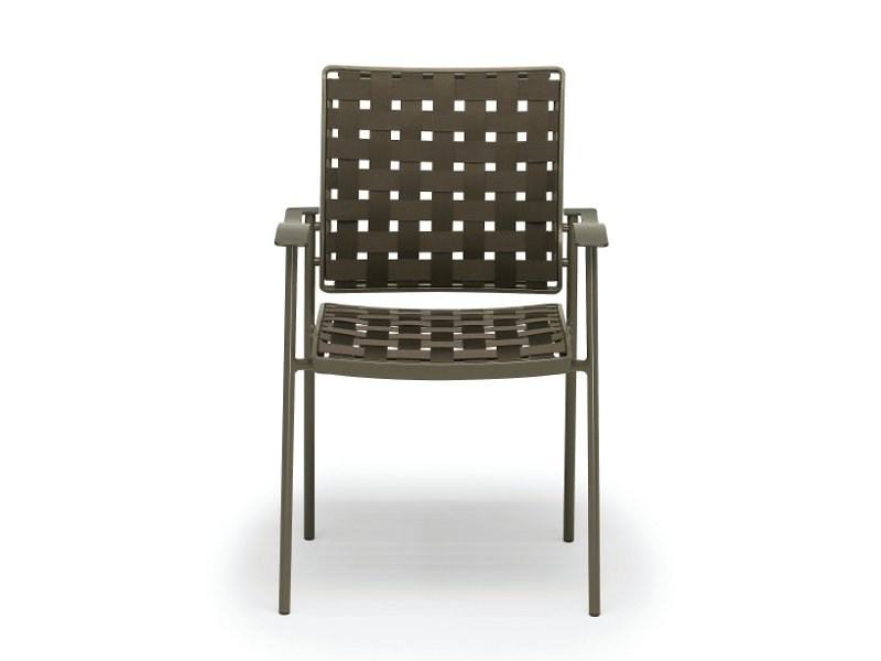 Stackable fabric garden chair with armrests NIZZA | Chair with armrests by FISCHER MÖBEL
