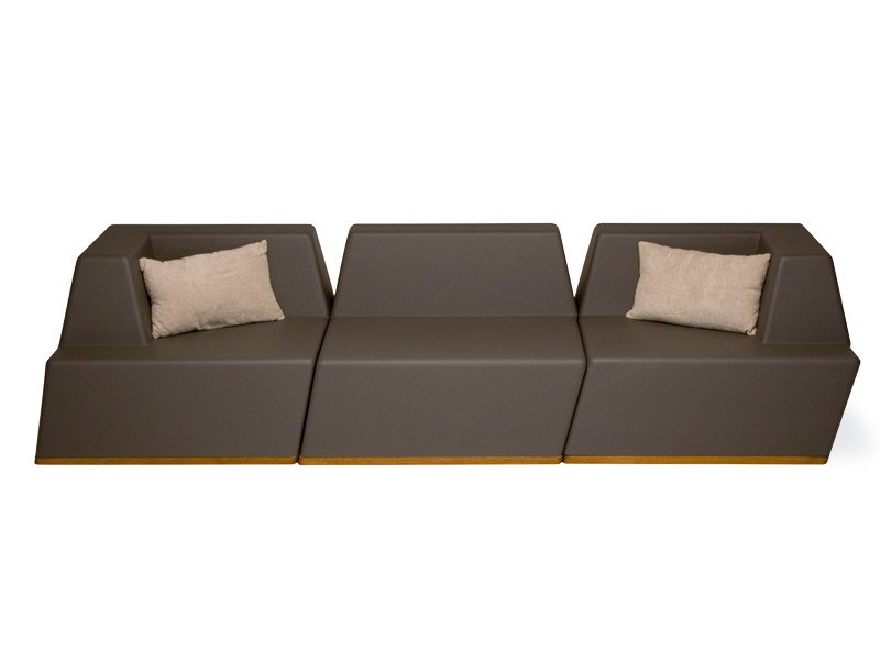 3 seater foam garden sofa UNIVERS | 3 seater sofa - FISCHER MÖBEL