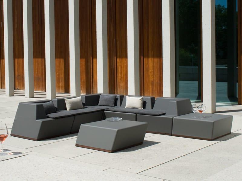 Corner modular foam sofa UNIVERS | Corner sofa by FISCHER MÖBEL