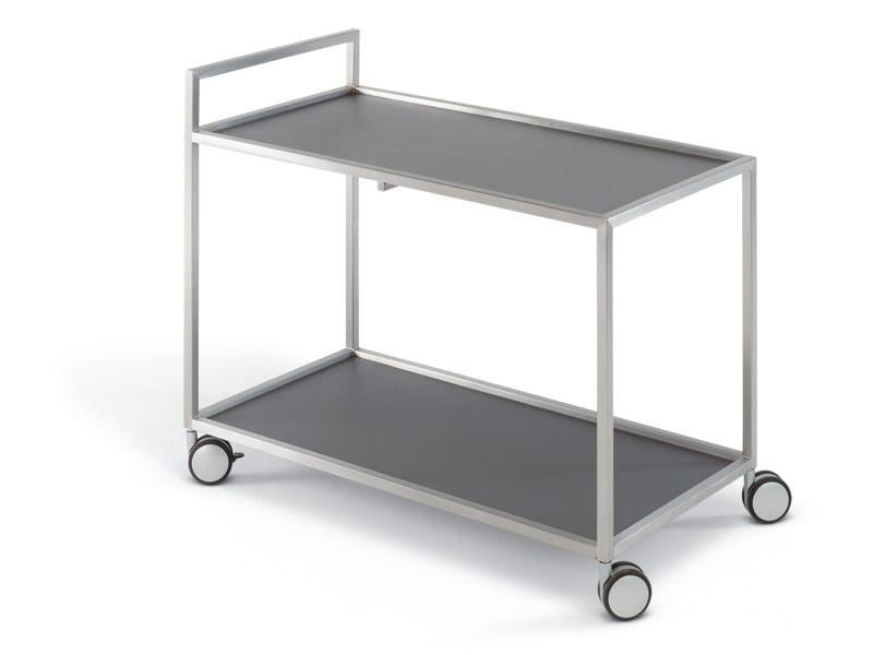 Stainless steel garden trolley HELIX | Garden trolley by FISCHER MÖBEL