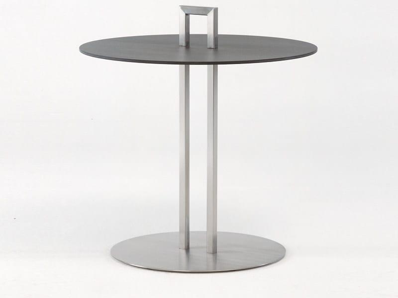 Round garden side table HELIX | Round coffee table - FISCHER MÖBEL