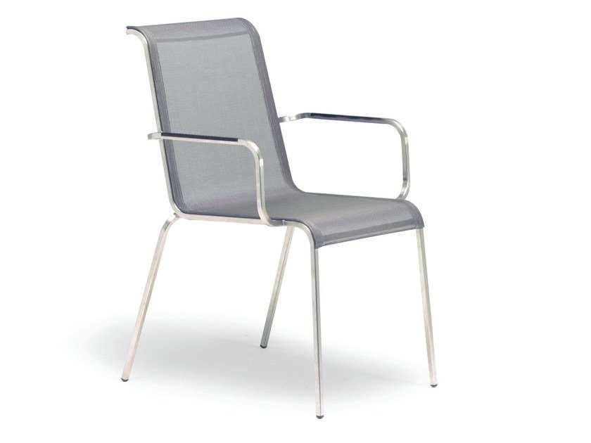 Stackable garden chair with armrests MODENA | Chair with armrests - FISCHER MÖBEL