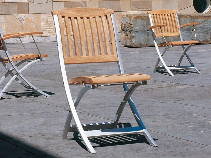 Folding teak garden chair CENTRO | Folding chair - FISCHER MÖBEL