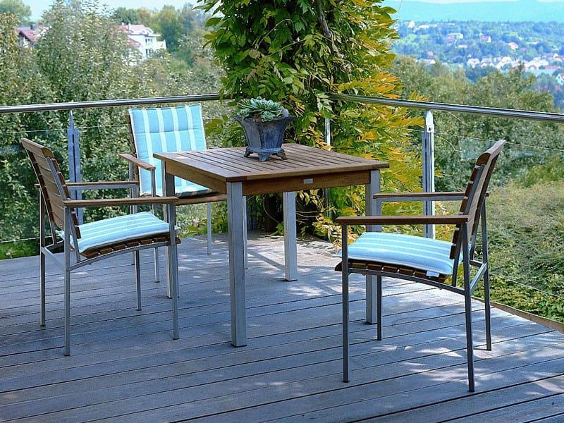 Square teak garden table LA PIAZZA | Square table - FISCHER MÖBEL