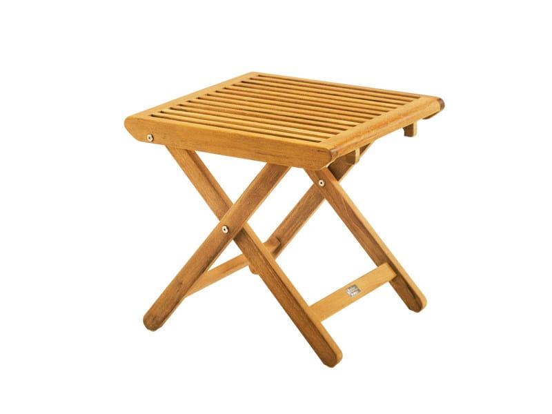 Teak garden footstool BURMA   Garden footstool - FISCHER MÖBEL