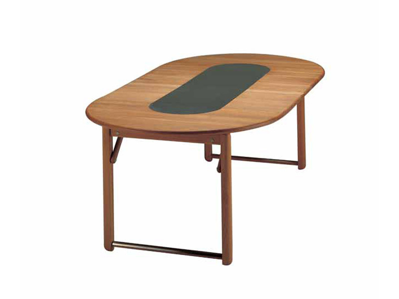 Extending round teak garden table TENNIS | Table by FISCHER MÖBEL