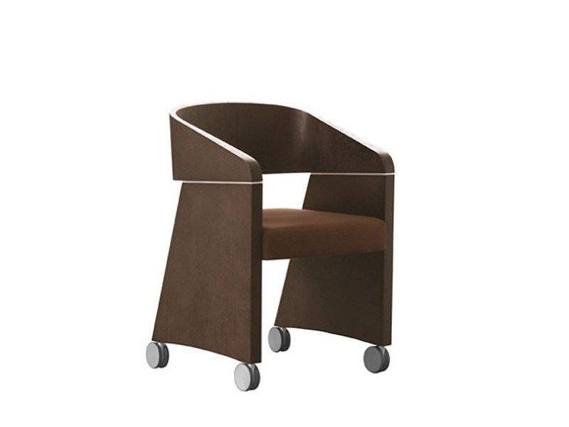 Chair with casters APPLE | Chair with casters - PEDRALI