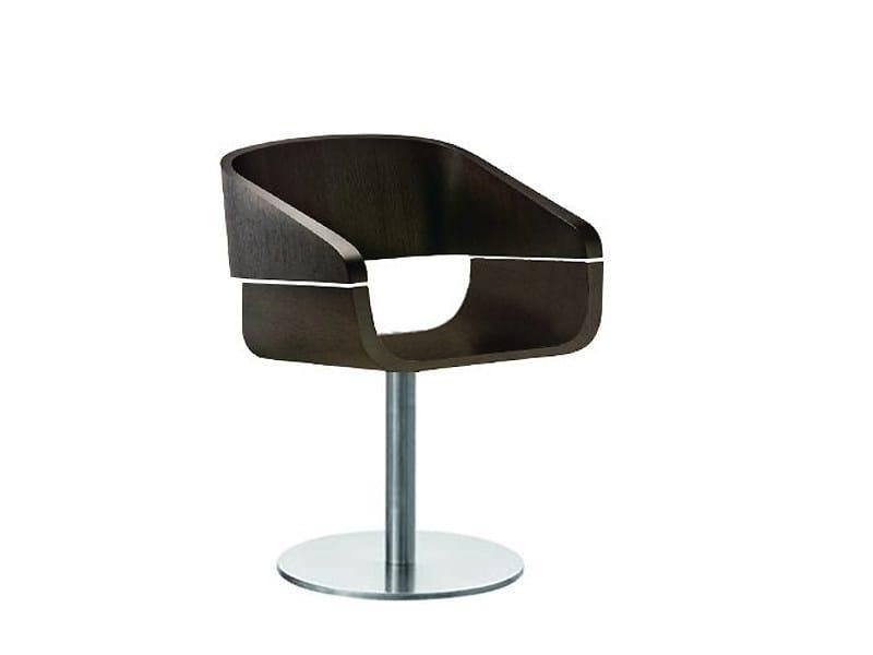 Swivel wooden chair APPLE | Swivel chair - PEDRALI