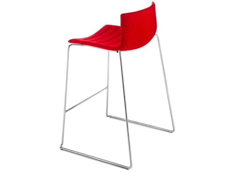 Barstool CATIFA 46 | Sled base stool - Arper