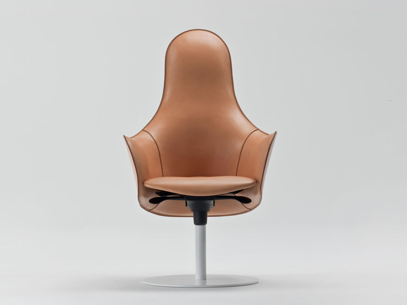 Swivel armchair with armrests HIPOD - ENRICO PELLIZZONI