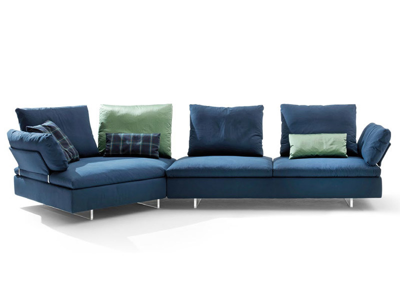SECTIONAL UPHOLSTERED MODULAR SOFA LIMES BY SABA ITALIA