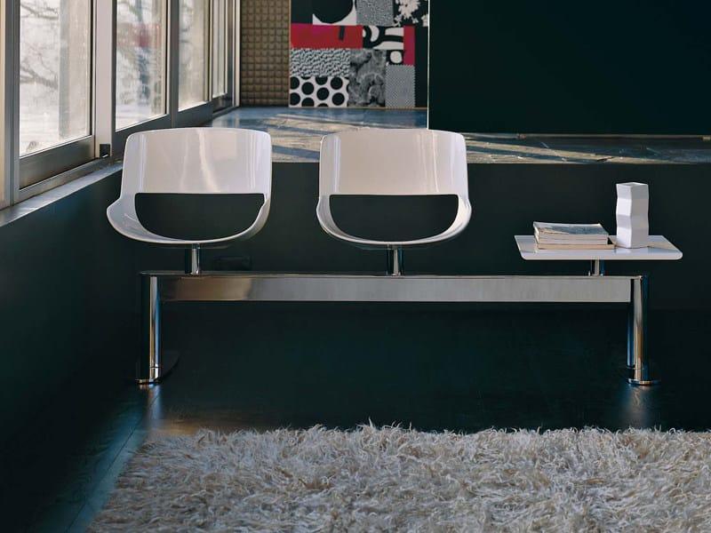Steel beam seating AMARANTA - ENRICO PELLIZZONI