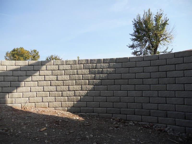 Containment wall MINI-ROCK by Calubini