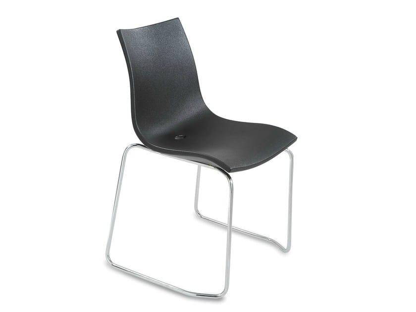 Sled base stackable polyethylene chair OBI 2 - IBEBI