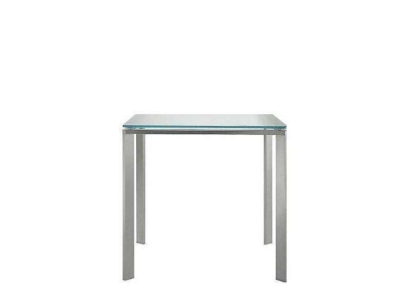 Stainless steel table LOGICO | Square table - PEDRALI