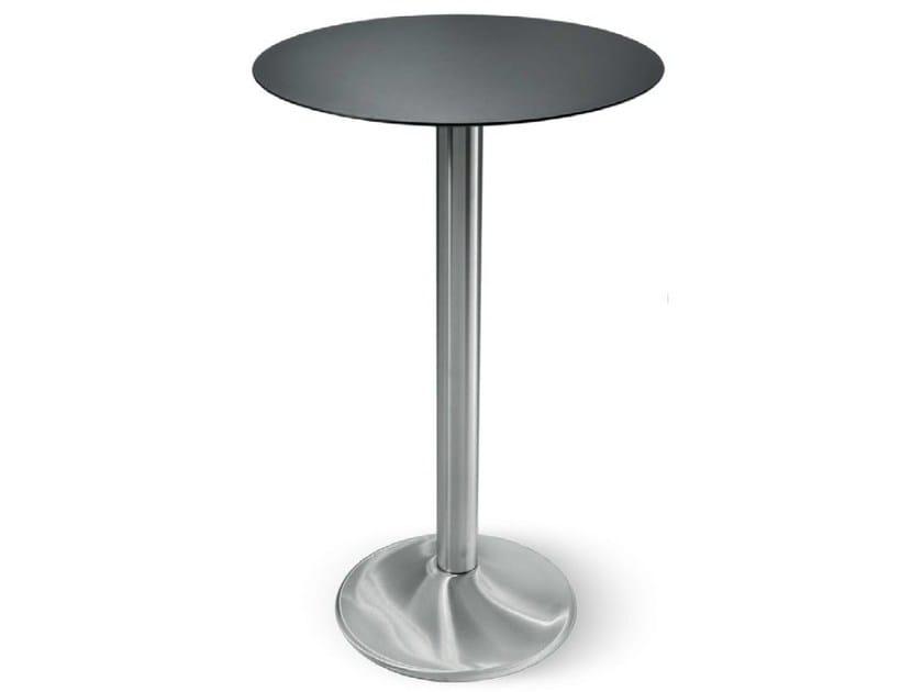 Tavolo alto in acciaio inox spritz tavolo rotondo collezione spritz by ibebi - Tavoli acciaio inox prezzi ...