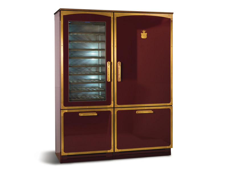 Refrigerator with wine cooler Class A + OGF165K | Refrigerator by Officine Gullo