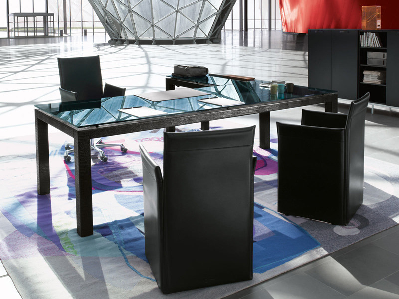 Crystal executive desk ABACO | Office desk - ENRICO PELLIZZONI